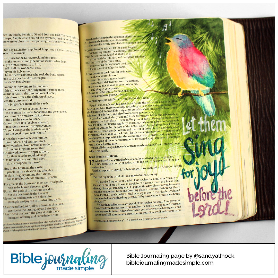 Bible Journaling 1 Chronicles 16