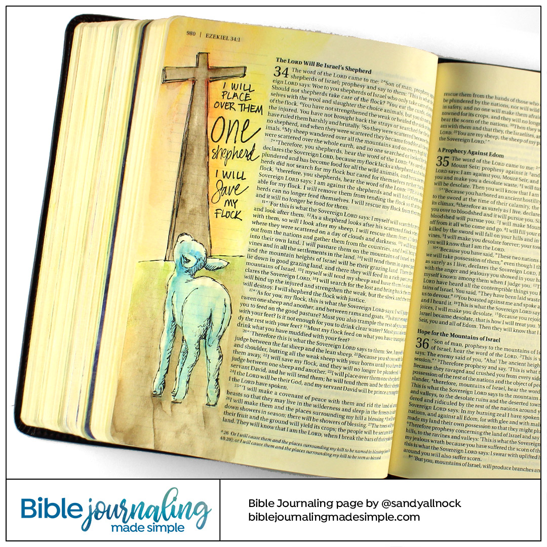 Bible Journaling Ezekiel 34 Save my Flock