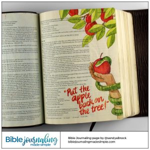 Bible Journaling Genesis 3:3 Return the Apple