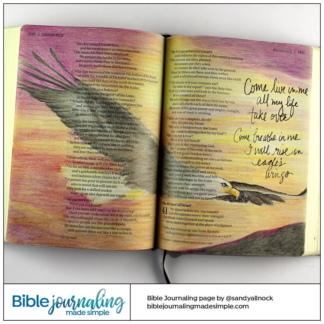 Bible Journaling Isaiah 40:31 Eagle