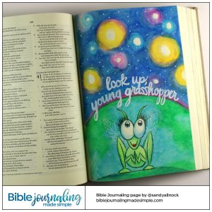 Bible Journaling Isaiah 40:22 Grasshopper