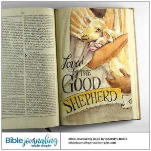 Bible Journaling John 10:11 Good Shepherd