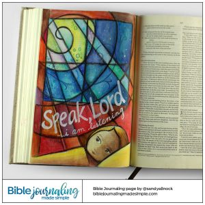 Bible Journaling 1 Sam 3:10 Speak Lord