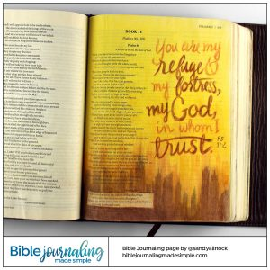 Bible journaling Psalm 91:2 Remembering 9/11