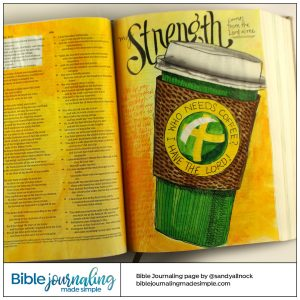 Bible Journaling 2 Samuel 22:33 My Strength
