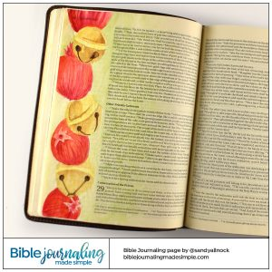 Bible Journaling Exodus 28:33-34 Pomegranates