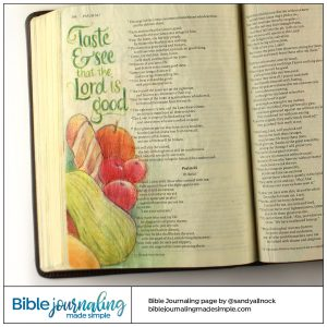 Bible Journaling Psalm 34:8 Taste and See