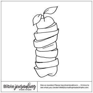 Downloadable Sketch of a stack of fruit slices