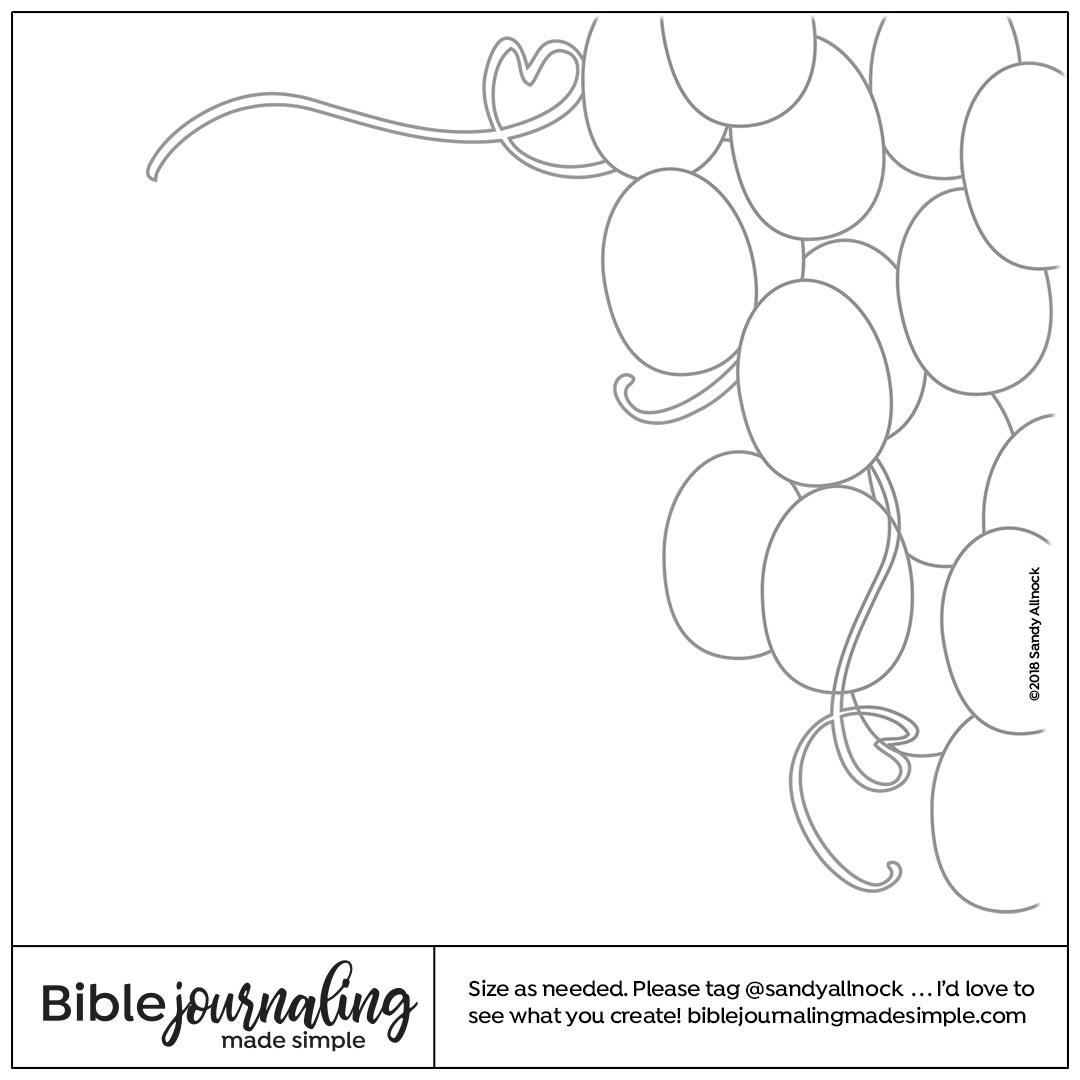Downloadable Sketch of a bunch of grapes