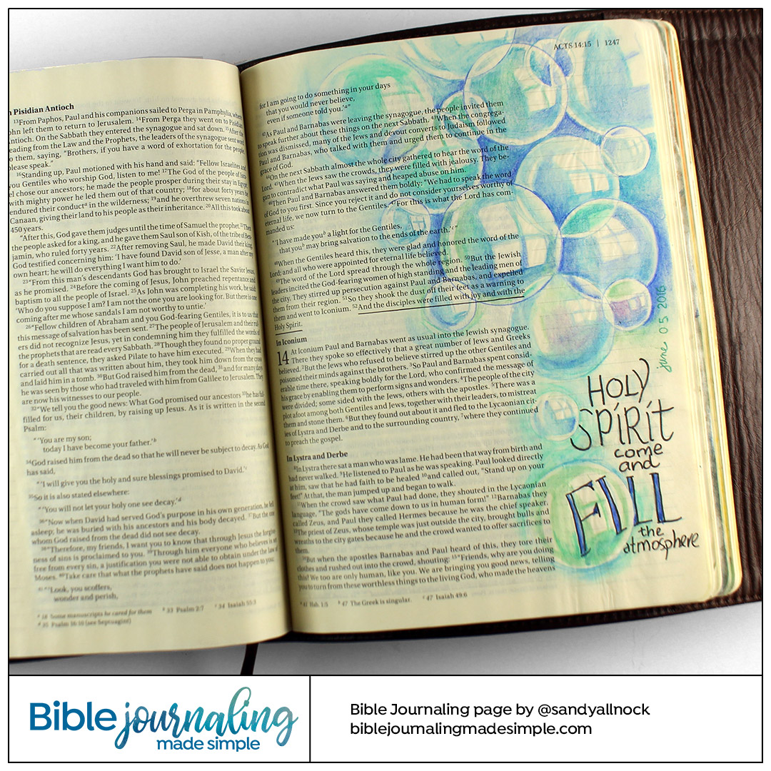 Bible Journaling Acts 13:52 Fill the Atmosphere
