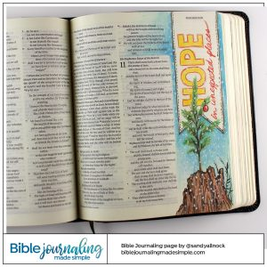 Bible Journaling Isaiah 11:1 Hope