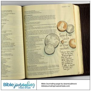 Bible Journaling Isaiah 6:8 Spend Me like a Coin