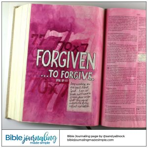 Bible Journaling Matthew 18:22 Forgive 70 x 7