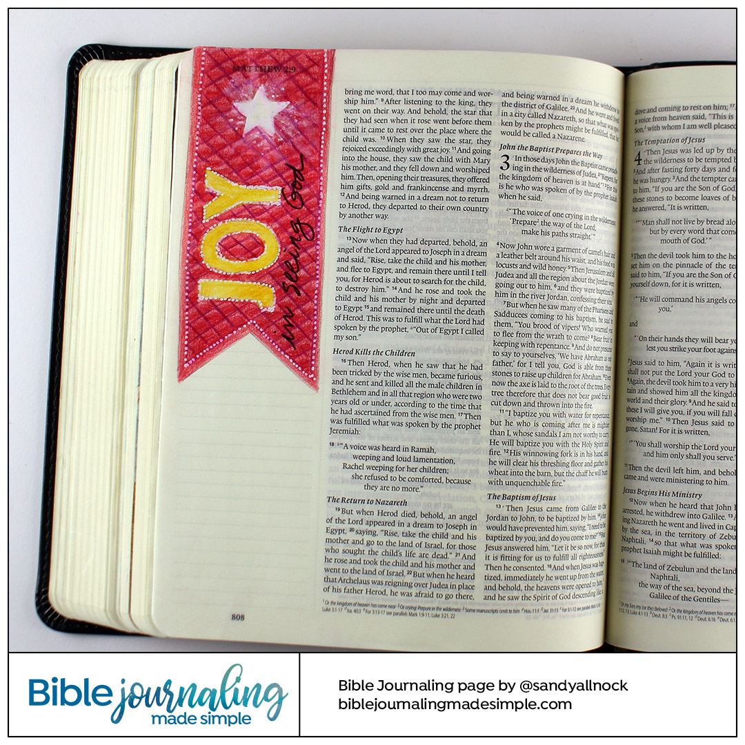 Bible Journaling Matthew 2:10 Joy