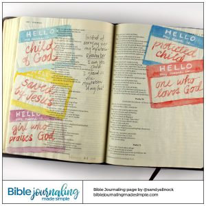 Bible Journaling Psalm 69 My name is