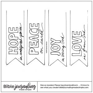 Downloadable Sketch of banners for advent or anytime