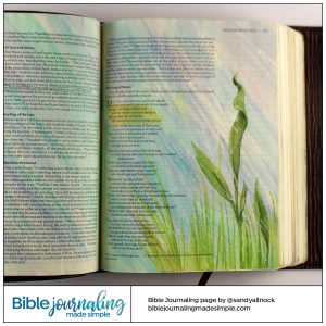 Bible Journaling Deuteronomy 32:2 Rain