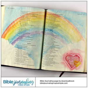 Bible Journaling Psalm 31:24 Be Strong, Take Heart