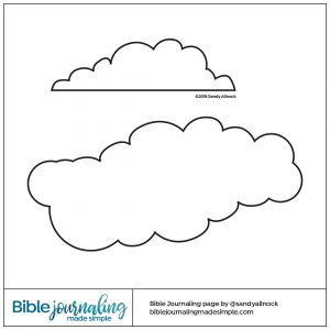 Downloadable Sketch of clouds