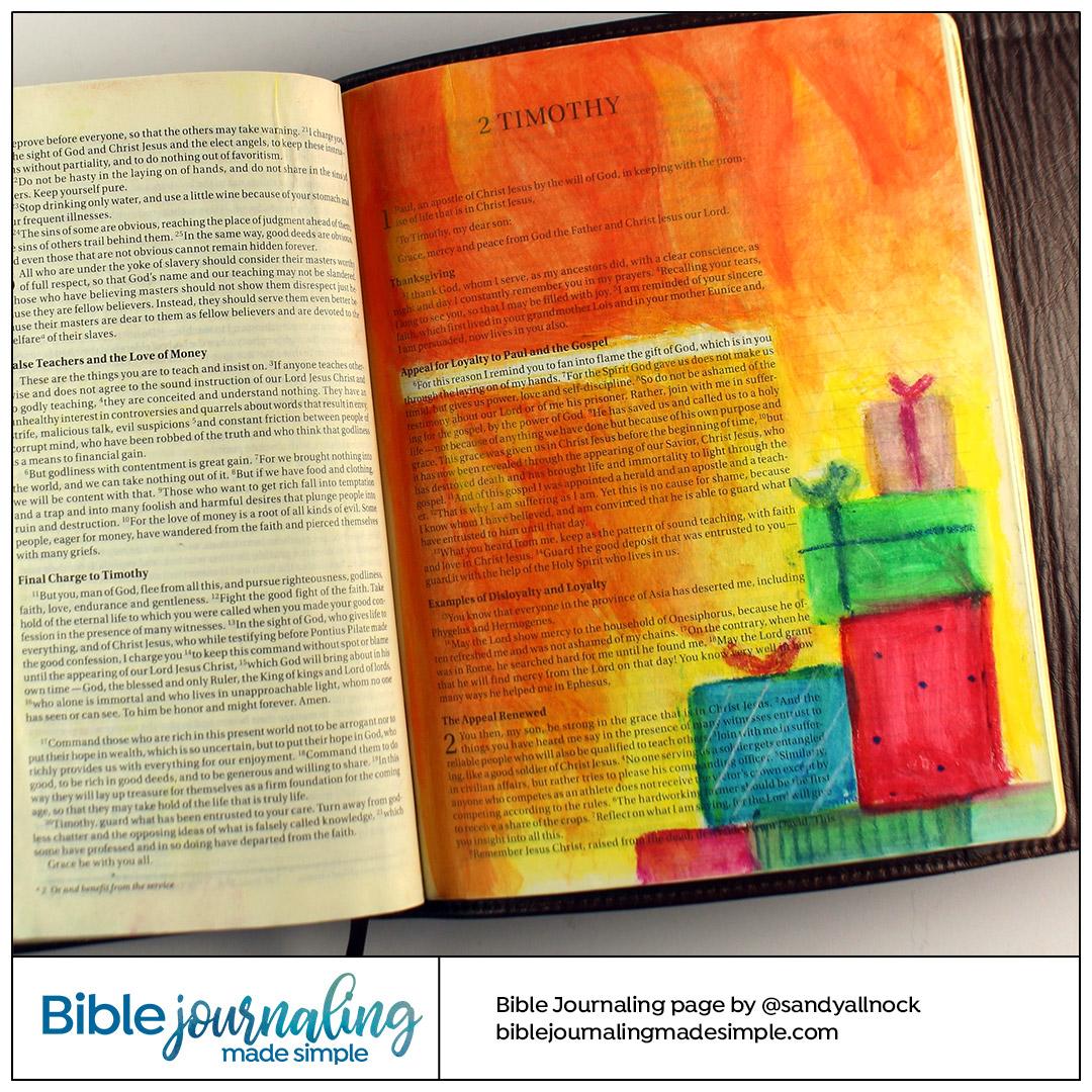 Bible Journaling 2 Timothy 1:6 Fan the Flame