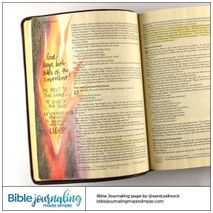 Bible Journaling Genesis 15:17 Blazing Torch Covenant