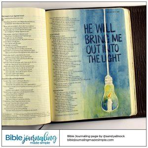 Bible Journaling Micah 7:8 Candle Bulb