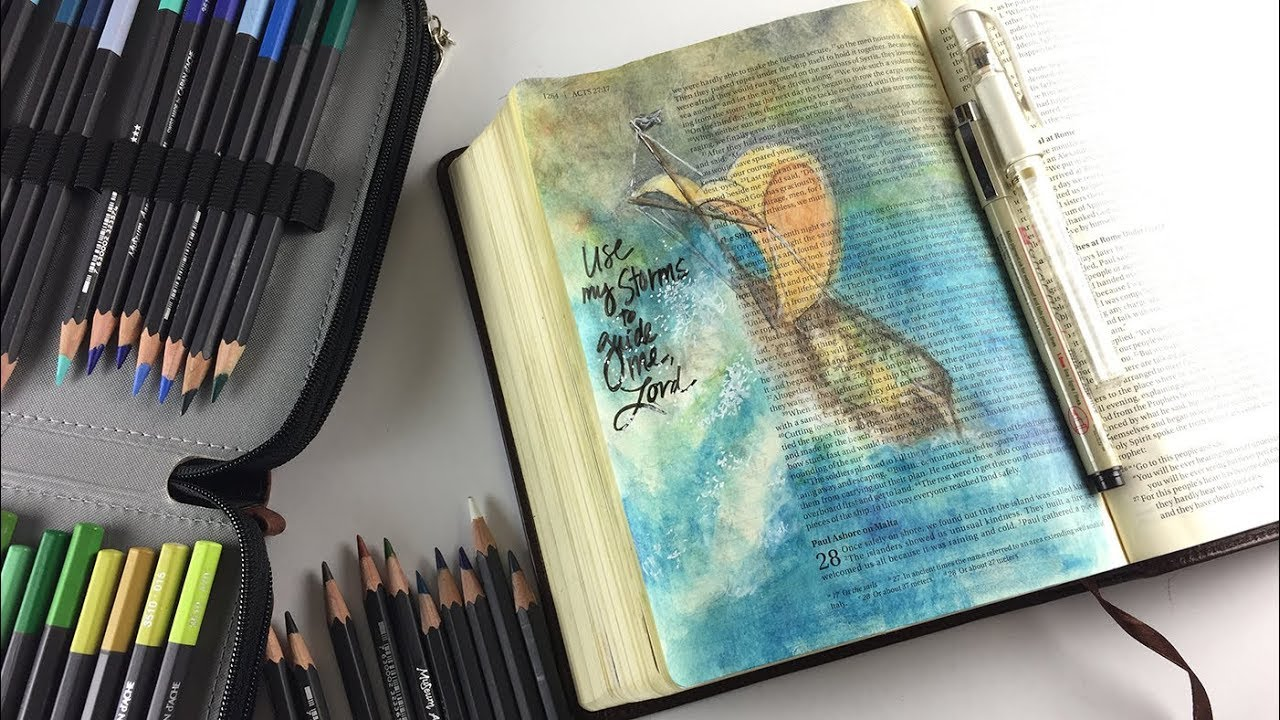 Bible Journaling Acts 27 - Use My Storms to Guide Me
