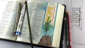 Bible Journaling Isaiah 11:1-3, 1st Week of Advent: Hope