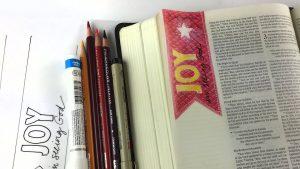 Bible Journaling Matthew 2:10, 3rd Sunday of Advent - Joy