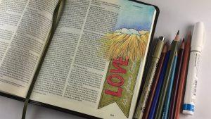 Bible Journaling 1John 4:7-9, 4th Sunday of Advent - Love