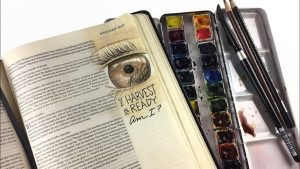 Bible Journaling Matthew 9:37-38 Open our eyes to the harvest