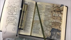 Bible Journaling Psalm 62:2 I shall not be shaken