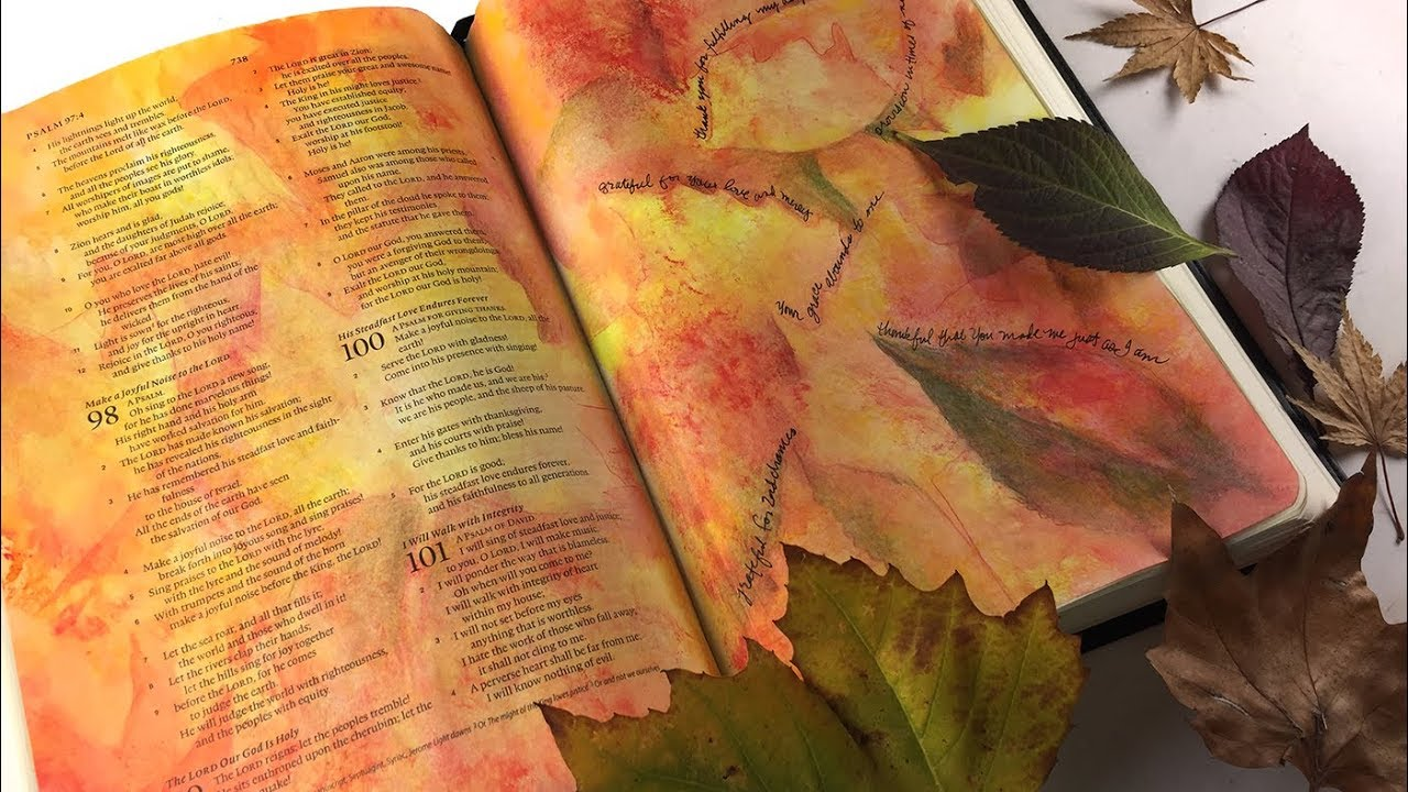 Bible Journaling Psalm 100: Thankful