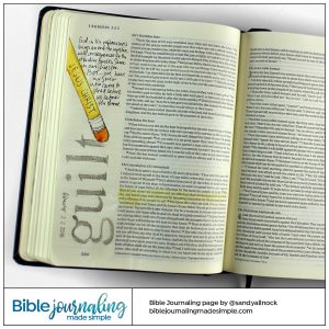 Bible Journaling 1 Samuel 2 Erase Guilt