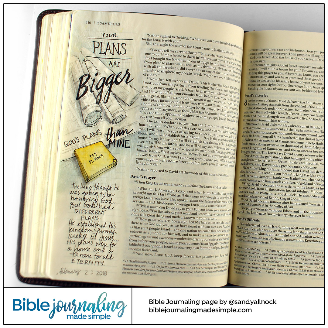 Bible Journaling 2 Samuel 7:2 Different Plans