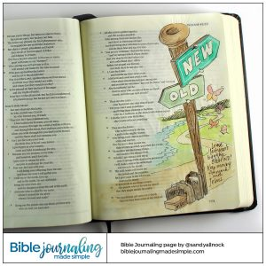 Bible Journaling Isaiah 43:18-19 Leave Baggage