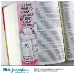 BIble Journaling John 13:8 Foot Washing