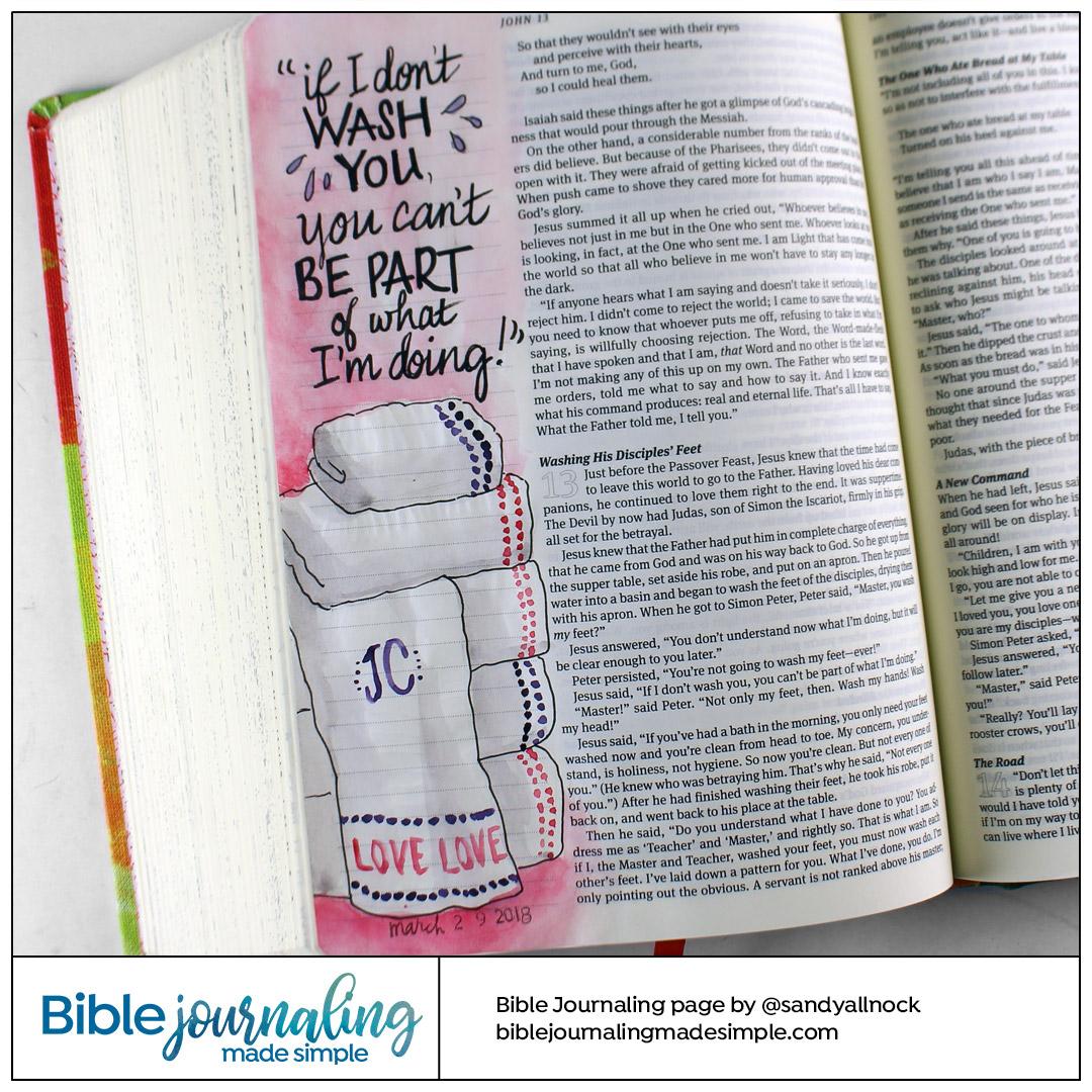 BIble Journaling John 13:8 Foot Washing