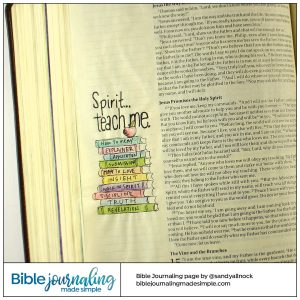 BIble Journaling John 14:26 Teach me