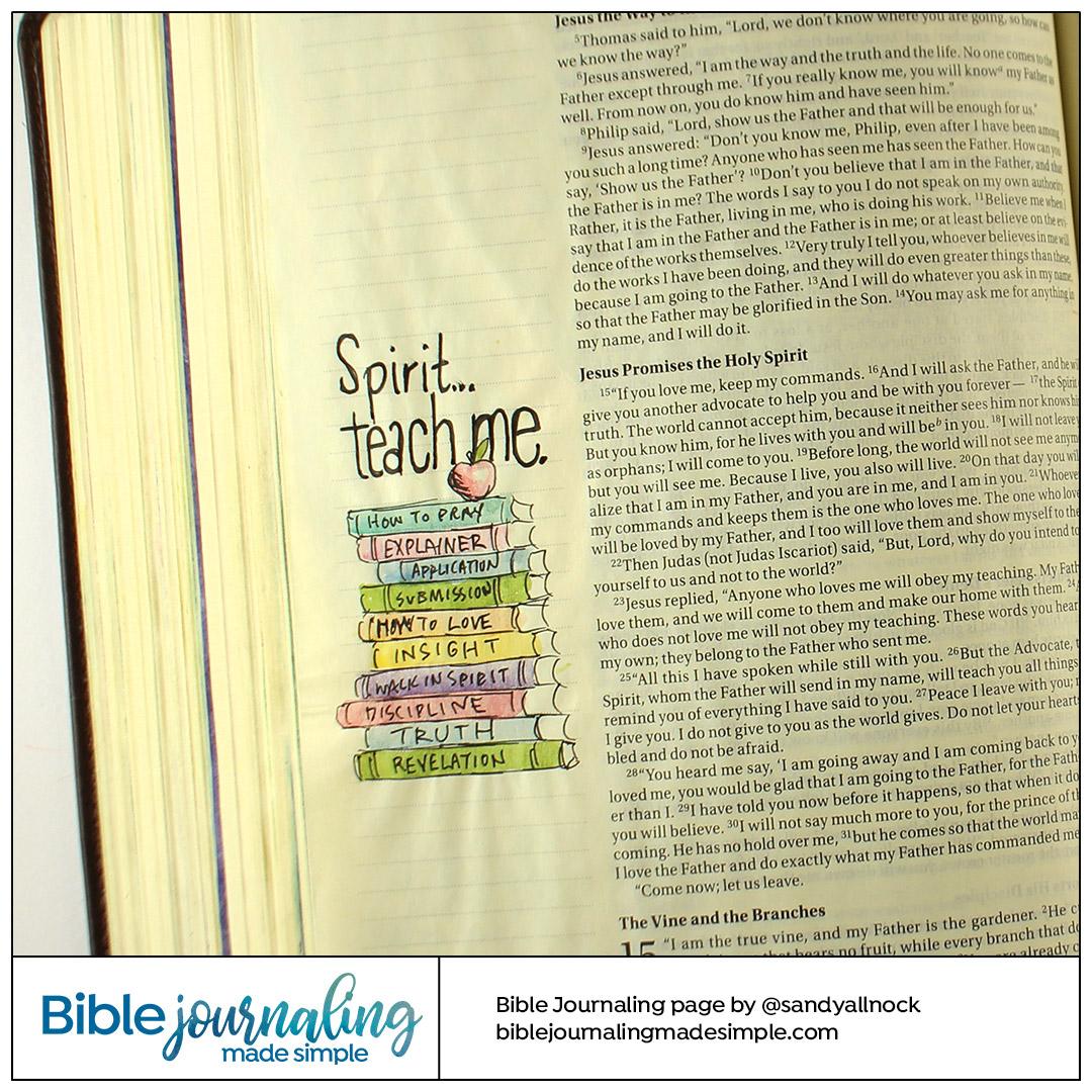 BIble Journaling John 14:26 Teach me