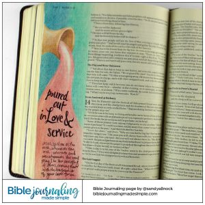Bible Journaling Mark 14:3 Alabaster Jar