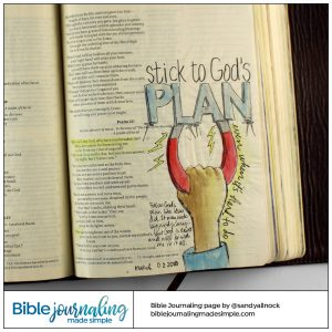 Bible Journaling Psalm 22:1 Stick like a magnet