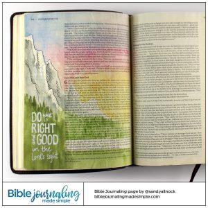Bible Journaling Deuteronomy 6:19 Craggy Mountain