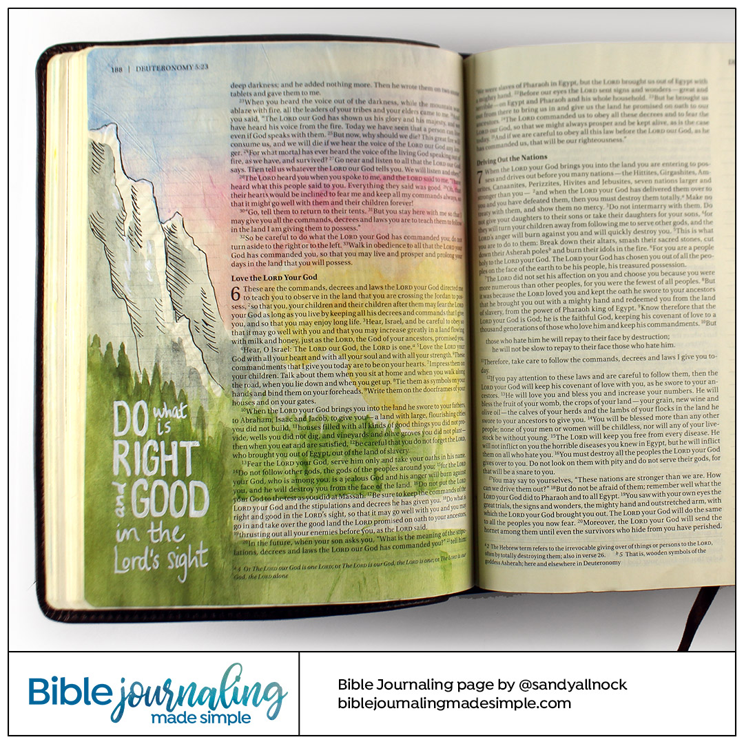 Bible Journaling Deuteronomy 6:19 Craggy Mountain