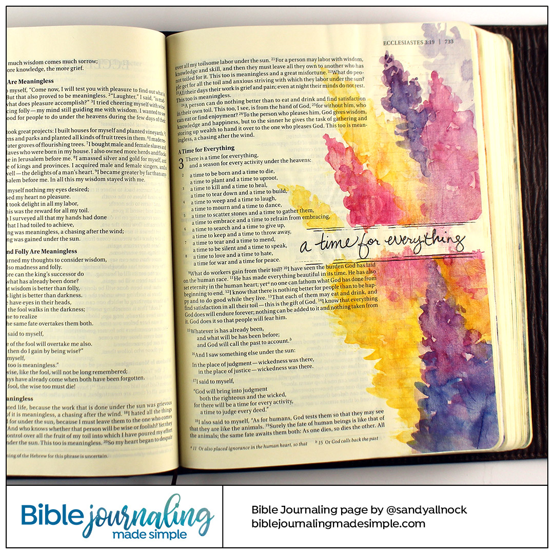 Bible Journaling Ecclesiastes 3:1