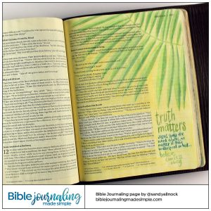 Bible Journaling John 12 Truth Matters