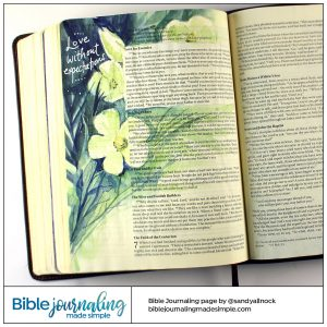 Bible Journaling Luke 6: Love without expectations