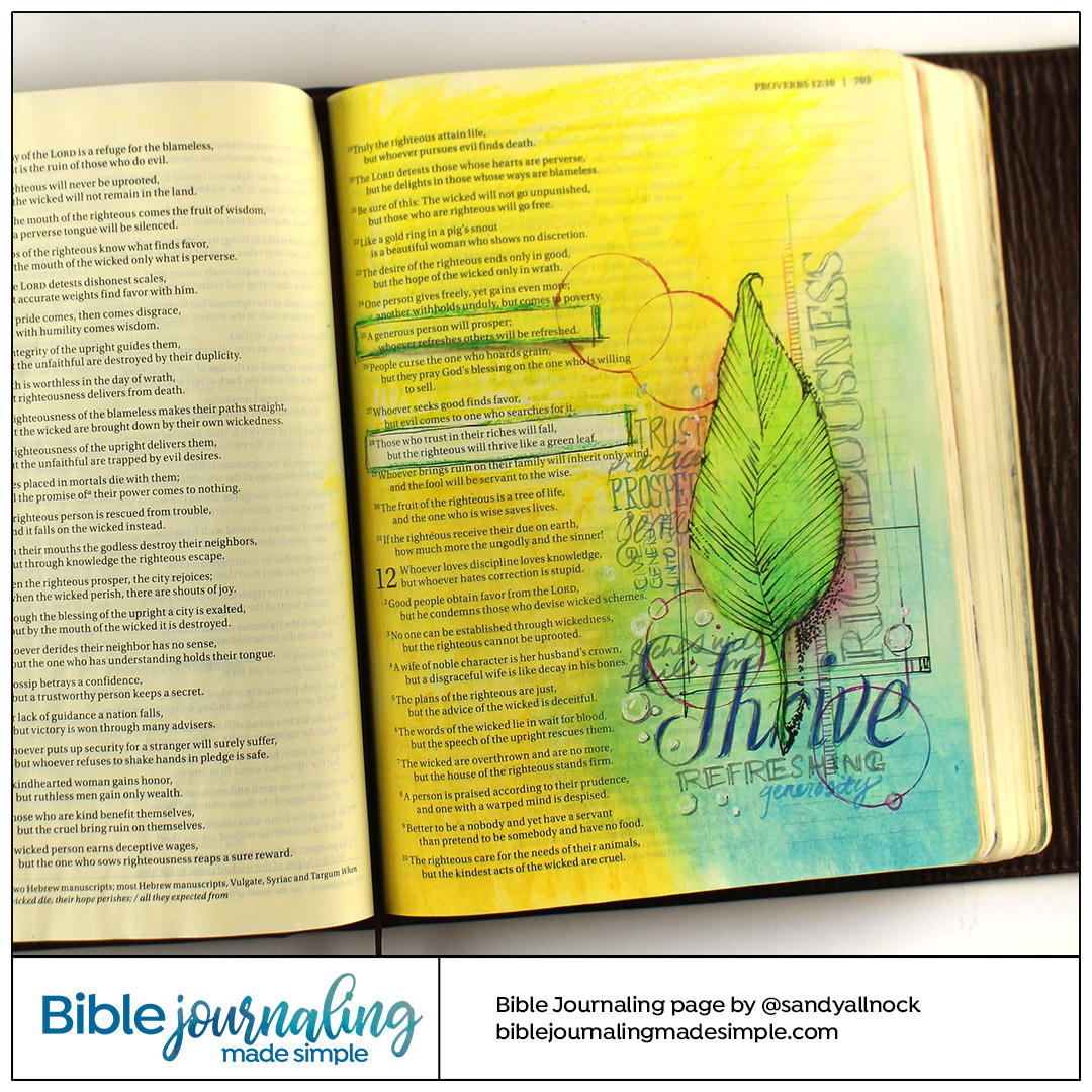 Bible Journaling Proverbs 11: Thrive