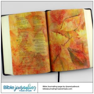 Psalm 100 Thankful Bible Journaling Page