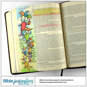 Bible Journaling 1 Corinthians 3:18-19 Fool for Christ
